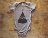 Sale Cinder Gray Brown 100% Organic Cotton TEEPEE Infant One-piece