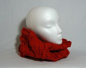 Czerwony Knit Cotton Cowl