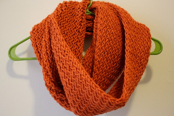 LONG KNIT INFINITY Scarf Loom Knit Extra Long Cozy