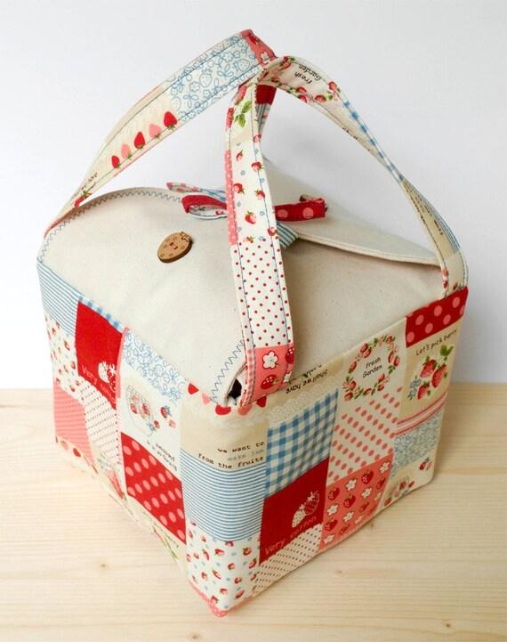 Bolsa de bento artesanal almuerzo patchwork japon s patr n - Bolsa de almuerzo ...