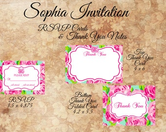 Monogram RSVP Cards and Thank You Notes
