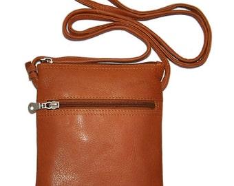"Cross Body Leather Bag 6x7"""