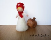 Mushroom Gnome – needle felted – Waldorf inspiration