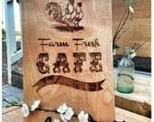 Engraved cutting board-farm decor-chicken decor-gift