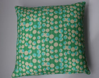 "Pillow cover - Amy Butler ""martini"" print in green - fits a 20x20 - 100% Cotton"