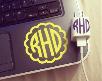 Personalized Monogram Computer Decal