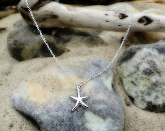 "Sterling silver starfish necklace ""Silver Star"""