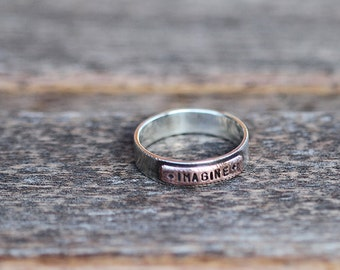 Sterling Silver and Copper Plate Ring K006