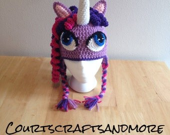 My Little Pony Inspired Crochet Hat Twilight Sparkle