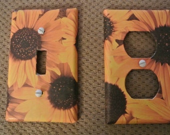 Switch plate cover - Sunflower