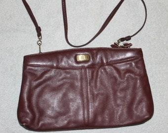 Etienne Aigner Maroon Large Purse