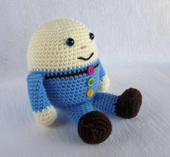 Knitting Pattern For Humpty Dumpty : Humpty Dumpty Doll Crochet Humpty Amigurumi Humpty Blue