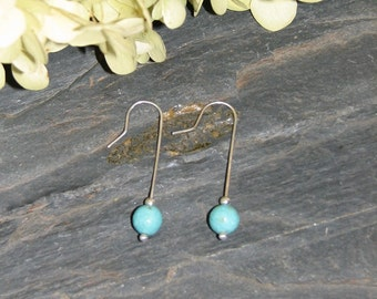 Turquoise Magnesite Pierced Earrings