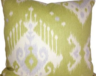 Magnolia Home Green Ikat Dakota Decorative Pillow Cover - 20x20 - Accent Pillow - Throw Pillow - Toss Pillow - Both Sides
