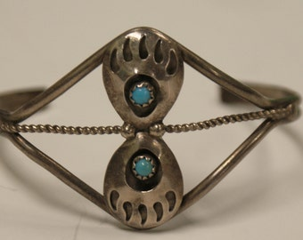 Sterling silver and turquoise bangle