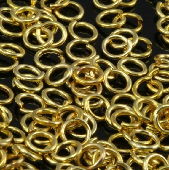Open jump ring 500 pcs raw brass (varnish) 4 mm 21 gauge( 0,7 mm ) jumpring 421JV-20
