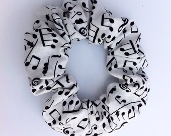 Music Notes Hair Scrunchie