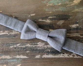 BACK IN STOCK:) Baby Boy Bow Tie-Toddler Bow Tie-Grey