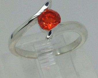 Mexican Fire Opal Ring on Sterling Silver