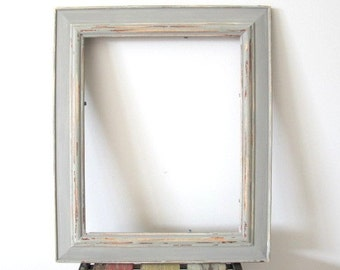 Rustic Photo Frame, Distressed Frame, Wooden Picture Frame, Grey 8x10 Photo Frame Shabby chic frame, Wedding frame, Beach decor