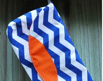 Envelope Purse, Clutch University of Florida Gators Game Day Chevron and Polka Dot