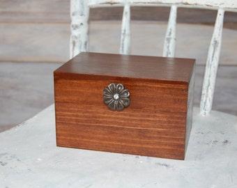 Rustic Handcrafted Recipe Box/ Wood Recipe Box/Recipe Box/ Rustic Decor/ Rustic Wedding Decor/ Kitchen Decor/ Home Decor/Wedding Party Gift