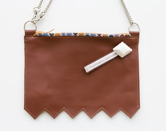 Pochette en cuir camel, sac bandoulière en cuir, mini sac en cuir, mini sac bandoulière, pochette bandoulière, sac made in France