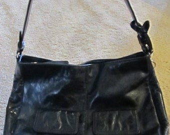 Black Leather Giani Bernini Purse