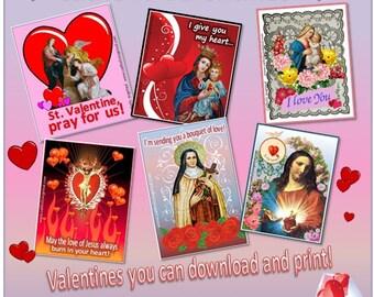 Catholic Valentines {Download and Print}