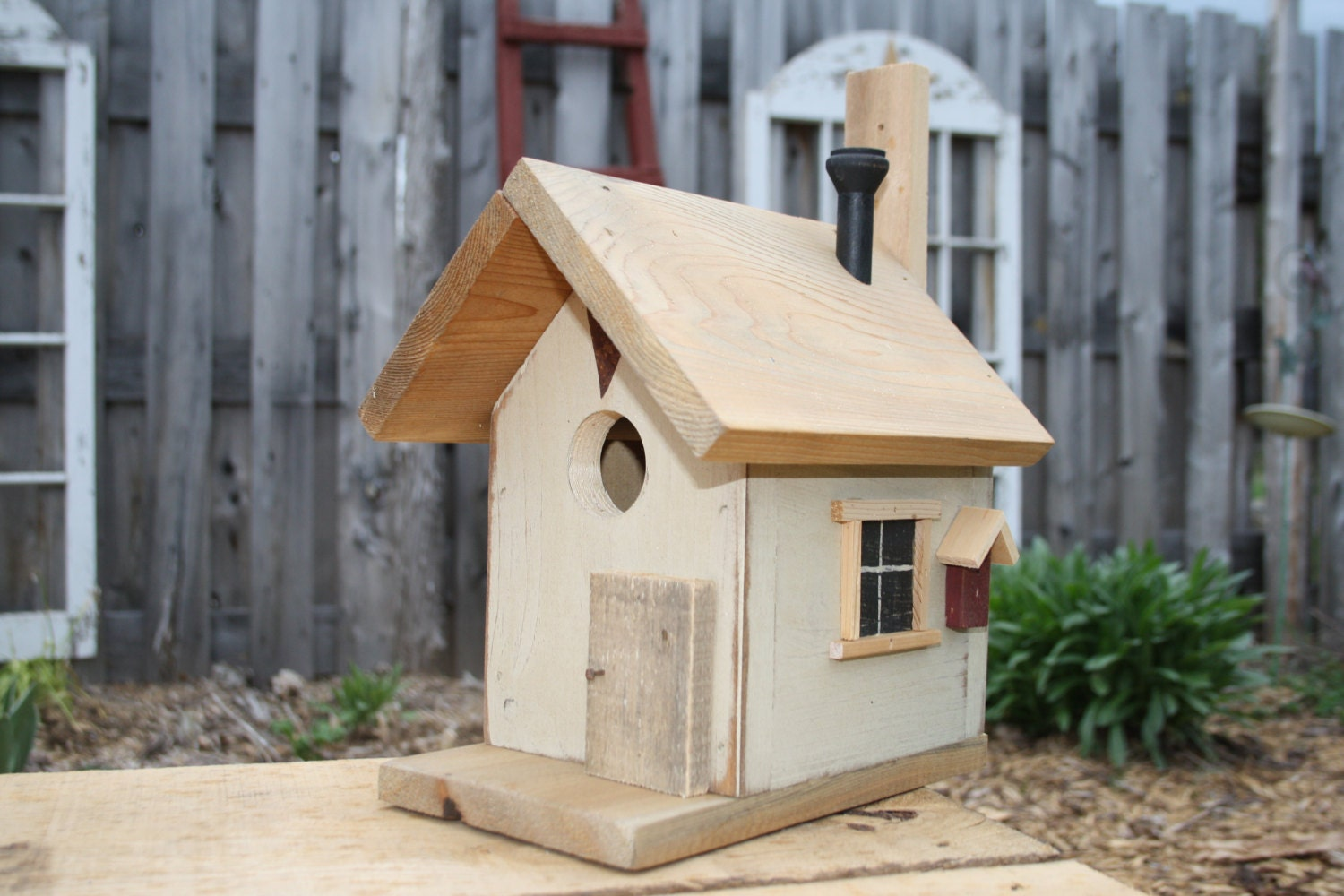 Country style bird house by cranberryhollow1 on etsy for Bird house styles