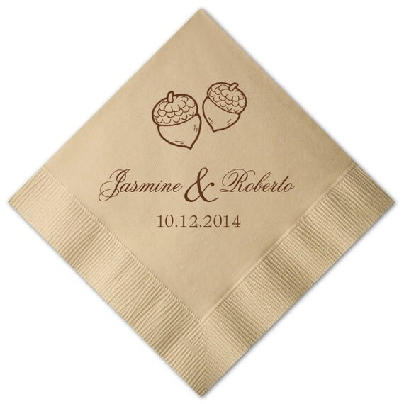 100 Personalized Cocktail Monogram Beverage Napkins Wedding