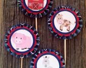 Barnyard Cupcake Toppers (Set of 12)