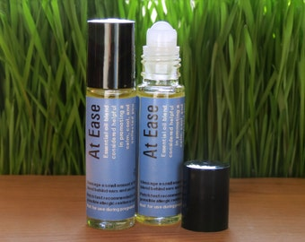 Anxiety Relief, Stress Relief, Aromatherapy roll on, lavender, tangerine, frankencense essential oil, At Ease blend