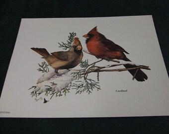 "Al Dornisch 1972 ""Cardinal"" signed copied painting print"