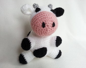 Crochet cow amigurumi cow stuffed animal toy cow baby toy