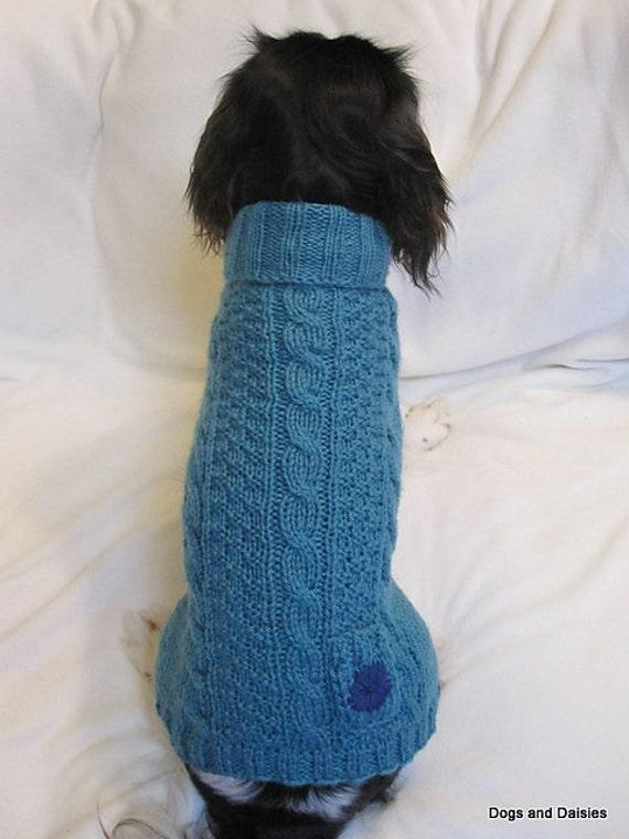 Dog Sweater Knitting Pattern Circular Needle : PDF Knitting Pattern Knit Dog Sweater Turtleneck Wool Animal