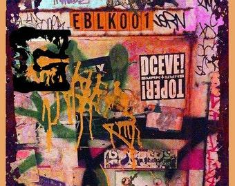 Urban Graffiti Abstract 4 - Giclee Print