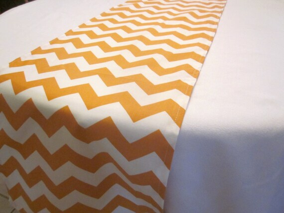 gold chevron table runner fall halloween thanksgiving. Black Bedroom Furniture Sets. Home Design Ideas