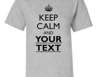 Ladies Custom Keep Calm Shirts - YOUR TEXT and even your own ICON - 5680