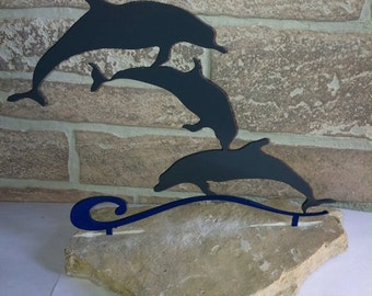 Metal Dolphins Home Decor