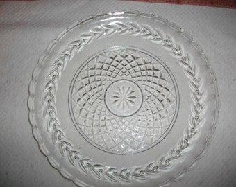 Vintage Cut Glass Serving Plate