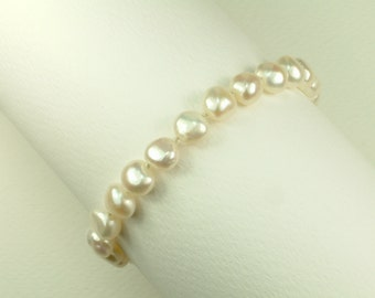 White Pearl Bracelet 10 - 11 mm (Βραχιόλι με Λευκά Μαργαριτάρια 10 - 11 mm)