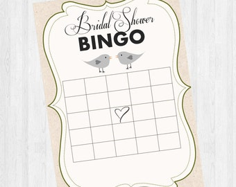 Bridal Shower Bingo - Love Birds
