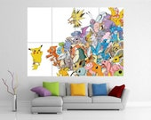 Pokemon Pikachu Giant Wall Art Picture Poster