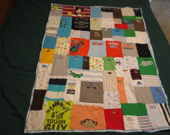 Custom Made Onesie Quilt Twin Size