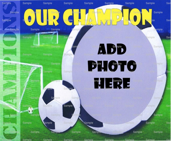 Soccer Champion - Edible Cake and Cupcake Photo Frame For Birthdays and Parties! - D4443