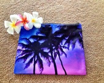 New - Purple Haze Palm Tree Clutch