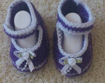 magic crochet baby shoes (ballet flats)
