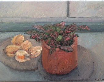 Still Life with Physalis, oil on canvas, 24 cm x 32 cm