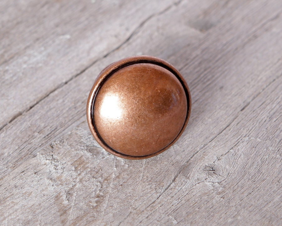 Copper Kitchen Knobs Cabinet or Drawer by LobsterBisqueVintage